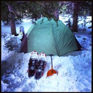 A proper winter tent setup