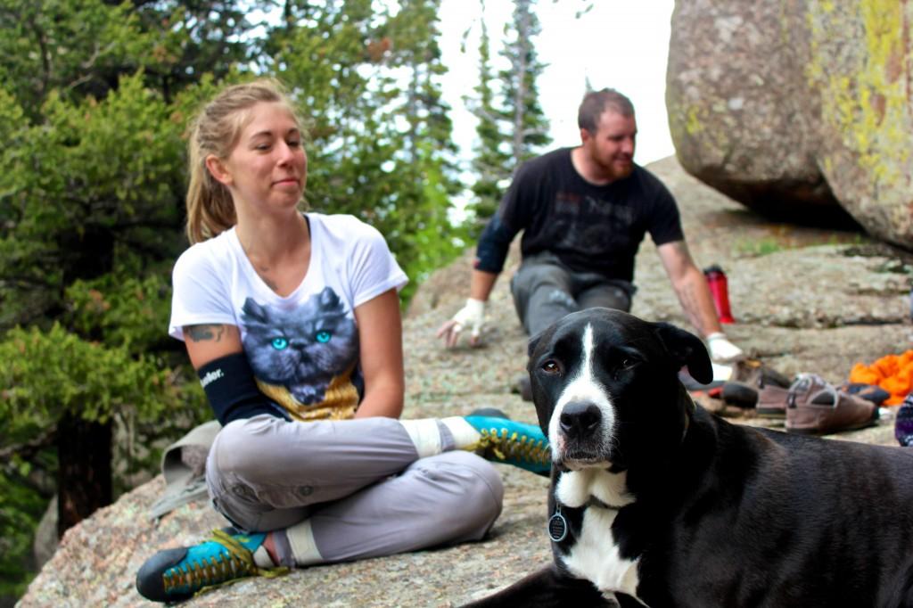 Crag dog in Vedauwoo
