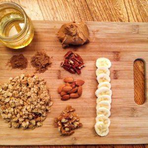 Peanut butter and banana granola