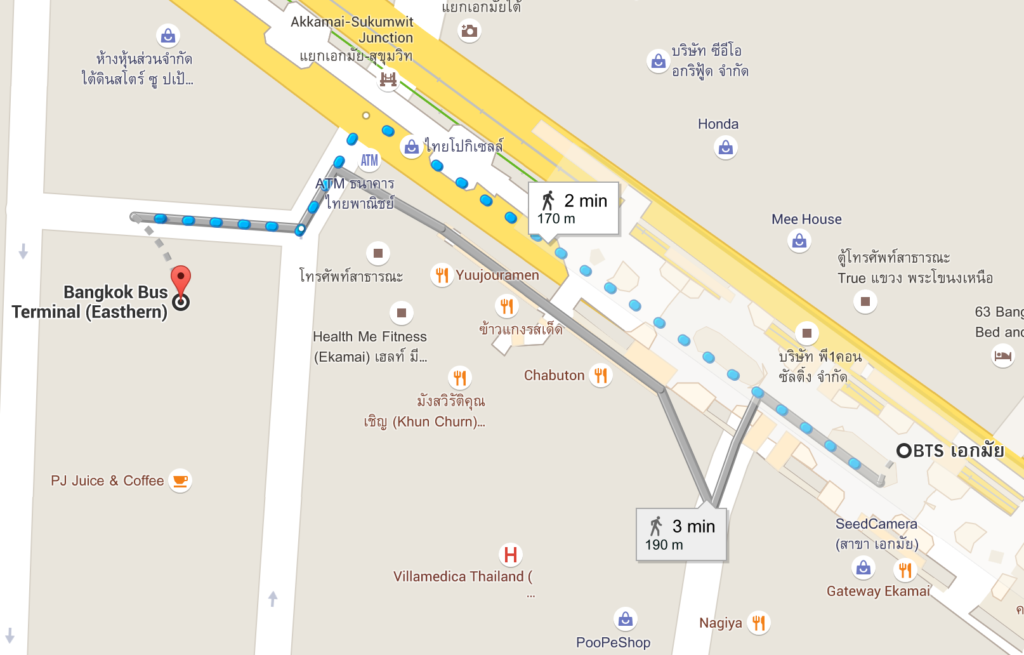 how to get to southern bus terminal bangkok by bts