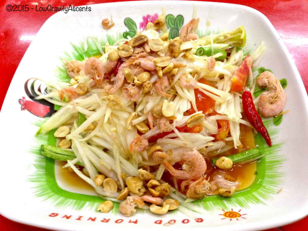 Spicy Papaya salad with shrimp