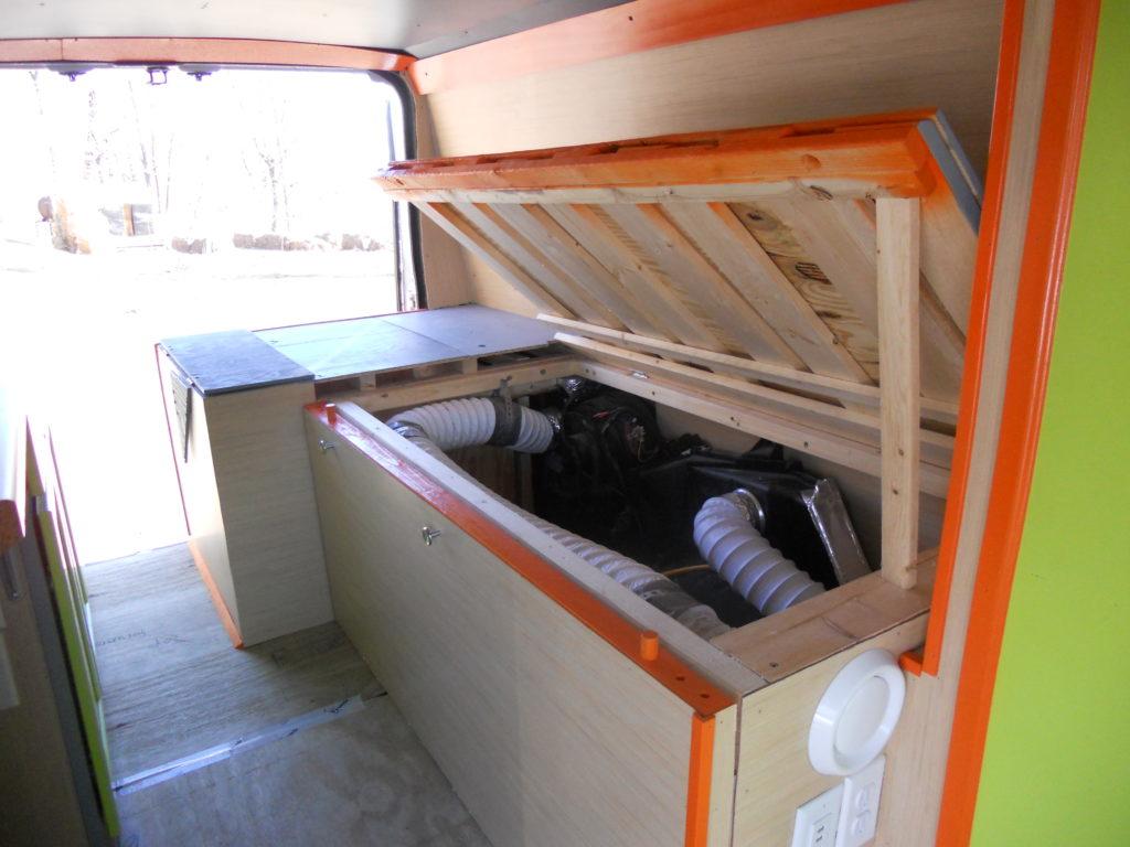 VanLife Bed Storage
